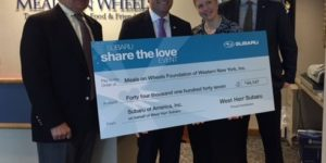 "West Herr Subaru ""Shares the Love"" with Meals on Wheels"