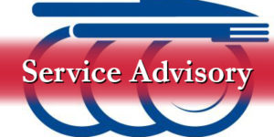Service Advisory for January 30 and 31, 2019