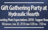 Gift Gathering Party – June 20, 2018 at Hydraulic Hearth